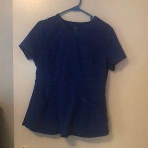 Bright blue Cherokee infinity jogger scrubs